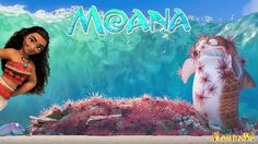 Moana Gone Fishing Funny video for kids Maui and Bright Fish Disney's Mo...