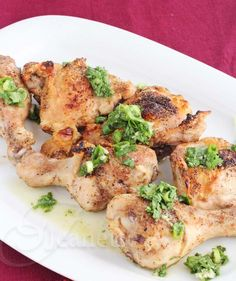 Roast Chicken with Cumin and Cilantro Scallion Salsa Recipe - Jeanette's Healthy Living