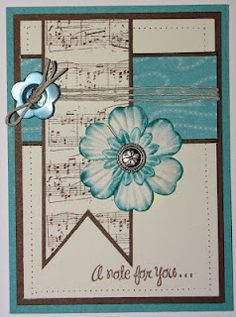 Done using Footloose from CTMH    Love the layout idea for this card with the colors and such; could easily adapt using other papers.