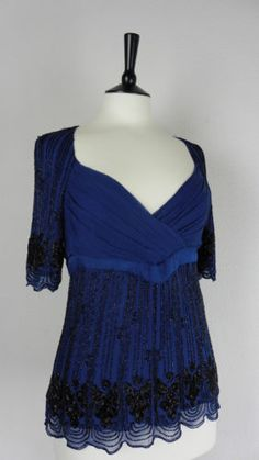 ee4fb8cf758dc Reiss-Size-8-Blouse-Top-Vintage-Style-20s-