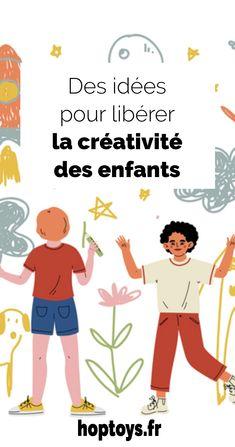 La créativité est innée chez chacun d'entre nous, mais en grandissant et sous l'influence de notre éducation et de notre environnement, elle s'amenuise… Il est donc important de soutenir nos enfants dans leur créativité. Aujourd'hui, nous vous proposons des idées pour libérer la créativité des enfants ! Important, Hui, Comics, Movie Posters, Music Gifts, Environment, Children, Home, Film Poster