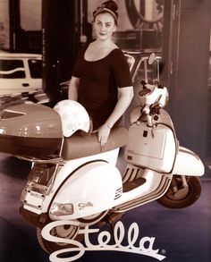 """Becca from #RealLoveStella puts a modern spin on the classic #GenuineScooters """"Stella girl."""" #StellaAuto 