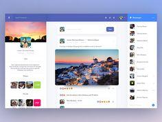 Facebook profile redesign by Jordan Warmoes-Nielsen #Design Popular #Dribbble #shots