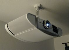 Projector W/ Ceiling Mount For Basement