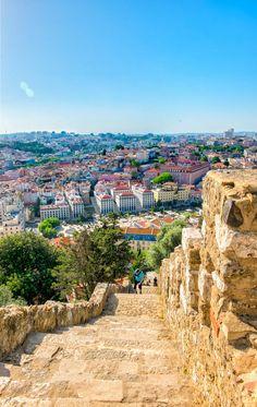 Stairs of Sao Jorge Castle - Lisbon by Orlando Agostinho on 500px