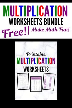 Make math fun the ultimate bundle of printable multiplication worksheets! Practice multiplication while playing games! Free Printable Multiplication Worksheets, Learning Multiplication Facts, Math Practice Worksheets, Math Facts, Multiplication Flash Cards, Money Worksheets, Therapy Worksheets, Budgeting Worksheets, Math Fractions