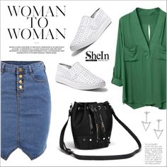 Sheinside by water-polo on Polyvore featuring moda, Steve Madden, Sheinside and polyvoreeditorial