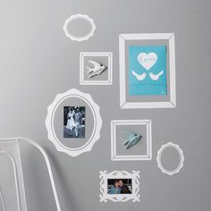 Pack of 7 Picture Frame Wall Stickers
