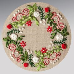 Ohhh – another nice embroidery kit from Rouge du Rhin – this one includes a bit of stumpwork-like berries and some silk ribbon embroidery. In the US, they can be found at The French Needle. – Gardening Man