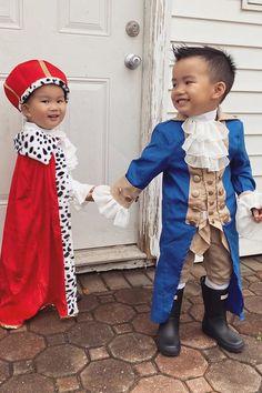 Hamilton Halloween Costume, Hamilton Costume, Toddler Halloween Costumes, Family Halloween Costumes, Baby Costumes, Hercules Costume, Hercules Mulligan, Frocks And Gowns, Halloween Inspo