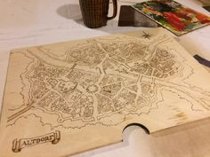 Map in box for the gamemaster.  #handcraft #handicraft #wood #box #warhammer #rpg #fcrafts #map