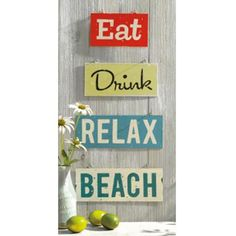 Our vintage-inspired metal signs are a vibrant addition to a kitchen, dining area, or better yet- your patio!