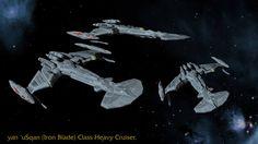 Iron Blade class Klingon cruiser by Kereth Makura