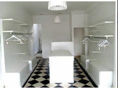 Isla para locales de ropa en melamina blanca zona oeste for Mobiliario vintage barato