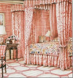 Lee Radziwill's bedroom
