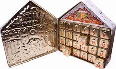 Confiserie Klein Adventskalender mit Pralinen Lebkuchenhaus mit Spieluhr