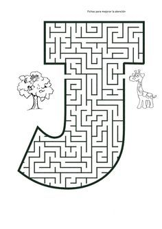 Free printable Maze in the shape of letter J. Kids love mazes, and letter shaped mazes also help with learning the alphabet Mazes For Kids Printable, Puzzles For Kids, Free Printables, Maze Worksheet, Abc Worksheets, Letter Activities, Kindergarten Activities, Preschool, Letter Maze