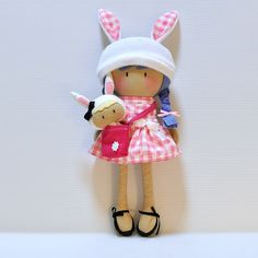 """CUTESTE DOLLIES by """"Cook You Some Noodles"""" - My Teeny-Tiny Doll Charlie and Bunny Baby Set"""