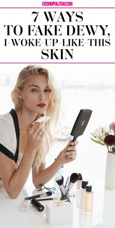 HOW TO GET DEWY SKIN: Makeup artist Fulvia Farolfi tells you how to get dewy, healthy, and glowing skin with these 7 easy tips. Little things like using the right foundation, exfoliating, and using this type of moisturizer can make a major difference. Click through for the complete makeup and beauty advice that will transform your skin!