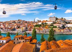 Porto Porto, Portugal sky outdoor Town geographical feature cityscape Sea vacation human settlement scene Coast tourism Harbor Beach skyline travel port several