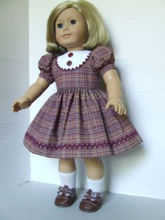 Back to School Plaid for American Girl Dolls