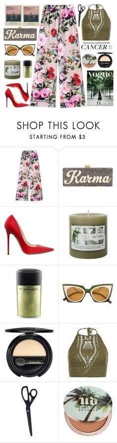 """July 1st: my bday, my fashion horoscope!"" by karineminzonwilson ❤ liked on Polyvore featuring Dolce&Gabbana, Edie Parker, Jimmy Choo, MAC Cosmetics, Fendi, Dr.Hauschka, New Look, Urban Decay, cancer and fashionhoroscope"