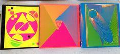 Vintage Neon Geometric 3 Ring Binder New Wave School Folder Planner Stuart Hall #StuartHall