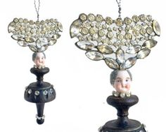 handmade Christmas ornament mixed media di ElizabethRosenArt