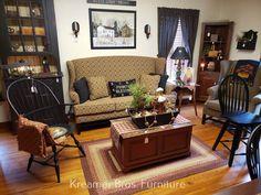 Primitive Living Room, Primitive Furniture, Country Primitive, Primitive Home Decorating, Decorating Your Home, Country Style Furniture, Number Of Countries, Brothers Furniture, Primitives