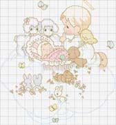 Schema punto croce Neonato-fantasia