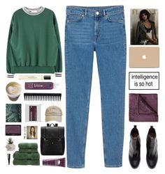 """""""Untitled #2155"""" by tacoxcat ❤ liked on Polyvore featuring Monki, H&M, blow, JCPenney Home, 3M, GHD, Korres, NARS Cosmetics, Byredo and Origins"""
