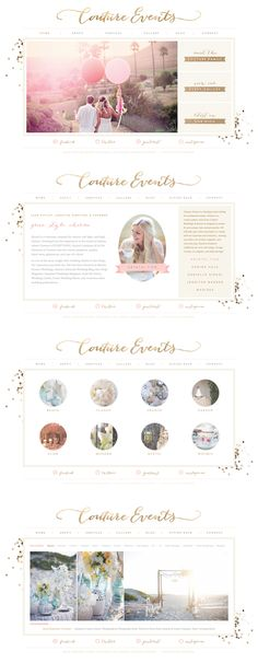 Couture Events / Website design and Blog design by Love Inspired