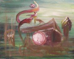 Geisterhaus, Acryl auf Leinwand, D012, 30x24
