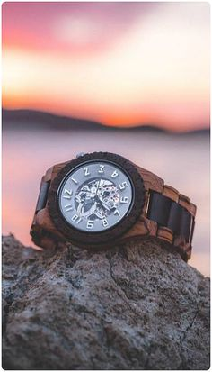 Evening light, a sun streaked sky, please stop the time from going by... | Photo @jblvze of IG | Find the watch, the automatic Dover in Zebrawood, at woodwatches.com - free shipping worldwide!