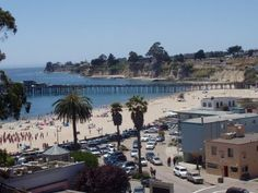 """Capitola, not far from Santa Cruz. Fun little party town right on the beach. We like to stay in the gray condos located in the bottom right of the pic. It's called """"Little Casa by the Sea"""" and is in the perfect spot."""