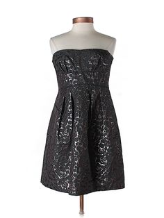 Black and metallic party dress by BCBGMAXAZRIA