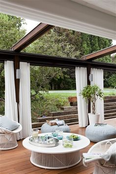Stuart Membery Home Collection Elisabeth Weinstock Design Jean Randazzo Photography Emily Todhunter Jade Jagger &Tom Bartlett RLH Stud. Porch And Terrace, Terrace Garden, Outdoor Seating, Outdoor Fun, Outdoor Decor, Outdoor Lounge, Outdoor Living Rooms, Outdoor Spaces, Backyard Projects