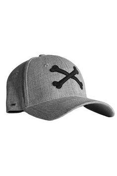 THE BONES - GREY Headgear, Bones, Baseball Hats, Menswear, Grey, How To Wear, Accessories, Fashion, Male Clothing