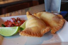"""An EMPANADA is a stuffed bread or pastry baked or fried in many countries in Latin America. The name comes from the Spanish verb """"empanar"""" meaning to wrap or coat in bread. Empanadas are made [. Easy Cooking, Healthy Cooking, Cooking Recipes, Easy Dinner Recipes, Holiday Recipes, Easy Meals, Pasta Al Curry, Chicken Empanadas, Cuban Dishes"""