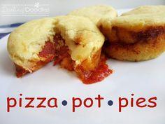 Pizza Pot Pies from Darling Doodles   Mini Food, Big Taste!  