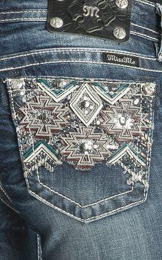 Miss Me Women's Tribal Signature Boot Jeans | Cavender's