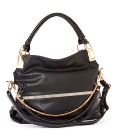Another great find on #zulily! Black Twister Shoulder Bag by MKF Collection #zulilyfinds