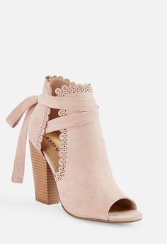 Just For Fun Scalloped Open Toe Bootie Cute Shoes Flats, Cute High Heels, Me Too Shoes, Shoes Heels, High Heel Boots, Shoe Boots, Heeled Boots, Bride Boots, Stylish Sandals