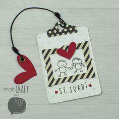 MOLT CRAFT + YoY Scrap + Sant Jordi + Punto de libro Scrapbook Paper Crafts, Scrapbooking, Paper Tags, Love Cards, Tag Art, Creative Cards, Mini Albums, Bookmarks, Gift Tags