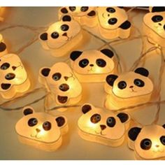 We love these panda fairylights! Check them out www.pandathings.com