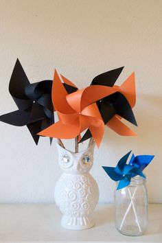 Excited to share this item from my shop: October Birthday Decoration, October Birthday black and orange, Birthday Carnival Circus Decor Orange and Black - 6 regular size Pinwheels Circus Decorations, Halloween Table Decorations, Orange Decorations, Birthday Centerpieces, Birthday Party Decorations, Wedding Decorations, Wedding Favors, Party Favors, Shower Favors