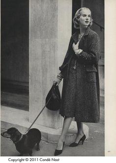 Chanel Tweeds  (Vogue/September, 1956)