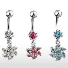 Sold Piece Freedom Fashion 316L Surgical Steel Mustache Butterfly Navel Ring