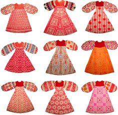 red dresses/Selvedge