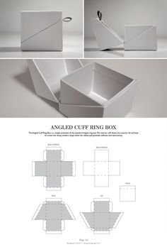 Angled Cuff Ring Box - Packaging & Dielines: The Designer& Book of Packagin. Box mit abgewinkelten Manschettenringen – Packaging & Dielines: The Designer& Book of Packaging Dielines: Jewelry Packaging, Gift Packaging, Retail Packaging, Packaging Ideas, Paper Packaging, Diy Instagram, Packaging Dielines, Design Packaging, Diy Paper